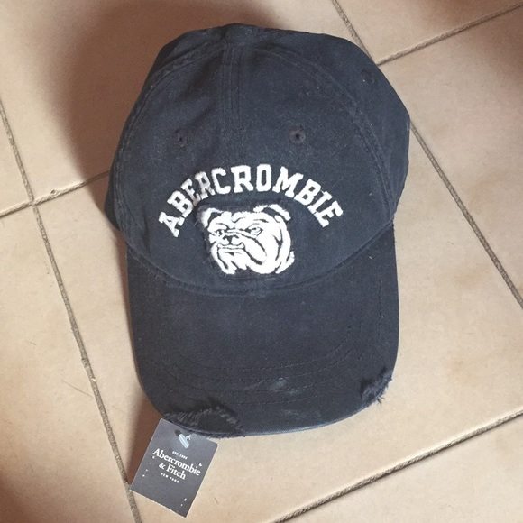 94946d53f908a NWT Abercrombie   Fitch A F Bulldog baseball Cap